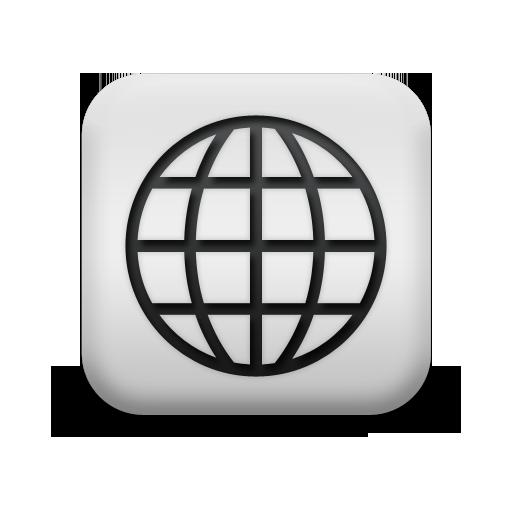 124732-matte-white-square-icon-business-globe
